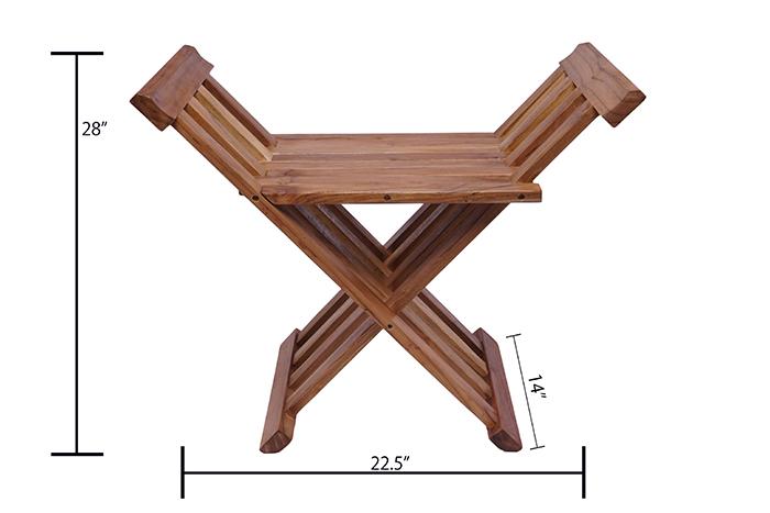 Small Folding Side Table Slanted Design
